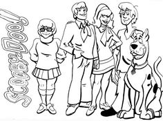 Scooby-Doo, : Meet All the Scooby-Doo Team Members Coloring Page