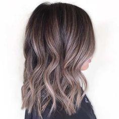 dark brown #hair with ash brown #highlights #balayage