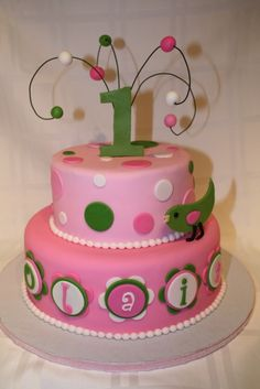 "@laura meriwether.  for ""Eyyen"".  1st birthday  By all_for_my_baby on CakeCentral.com"