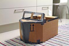 Pojan uusi pahvivene, Sympaatti. New cardboard boat.