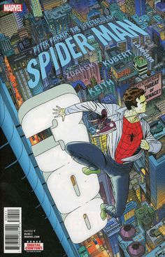 COMIC BOOK: Peter Parker: The Spectacular Spider-Man # 300. PUBLISHER: Marvel Comics. WRITER(S) Chip Zdarsky. ARTIST: Adam Kubert. COVER ARTIST: Marco Martin. ORIGINAL RELEASE DATE: 2 / 28 / 2018. COVER PRICE: $5.99. RATING: Teen +.