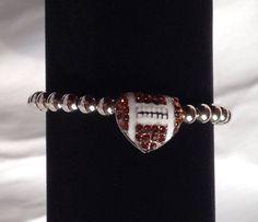Heart Shape Football Bracelet