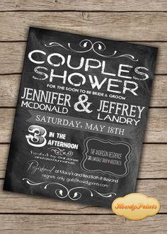 chalkboard print or i print couples shower shower