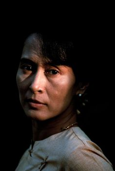 Here's a woman of essence and courage - Daw Aung San SUU KYI, nonviolent activist and winner of the 1991 Nobel Peace Prize