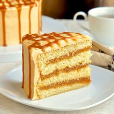 The Best Caramel Cake - inspired by the Southern classic dessert cake. - The Best Caramel Cake Recipe ~ The moist vanilla cake gets filled with layers of homemade caramel s - Homemade Caramel Sauce, Homemade Vanilla Cake, Vanilla Cake Recipes, Homemade Breads, Homemade Cakes, Just Desserts, Delicious Desserts, Dessert Recipes, Dessert Healthy