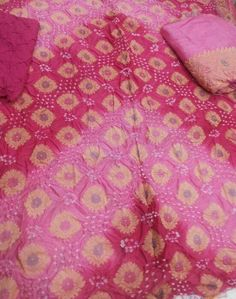 Gadhwali / Chanderi Silk Bandhani Dress Material Heavy banarasi buttas on fine gadhwali silk mateial. Heavy Dupatta with buttas and border. Dual color beautifies the buttas and material.  Available in 6 different colors  For more details call/whatsapp- 91-9377399299   #sankalpthebandhejshoppe #designerdress #bandhanidress #dressmaterial #gadhwalidressmaterial