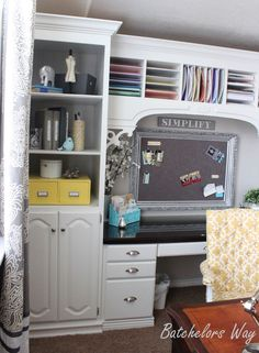 Batchelors Way: Office Reveal - Built In Book Shelves on a $500 Budget