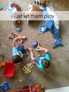 A reminder to  just let them play. #parenting #family #kids