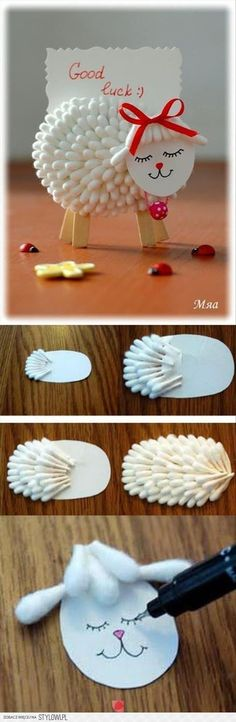 DIY Cotton Lamb diy crafts home made easy crafts craft idea crafts ideas diy ideas diy crafts diy idea do it yourself diy projects kids crafts kids diy kids craft Kids Crafts, Easter Crafts, Diy And Crafts, Craft Projects, Arts And Crafts, Craft Ideas, Diy Ideas, Sheep Crafts, Decor Ideas