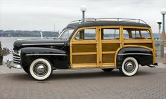 This is what you call a classic surf wagon! ~A Ford Super Deluxe Woodie Wagaon (1948) © Bruce Whitaker