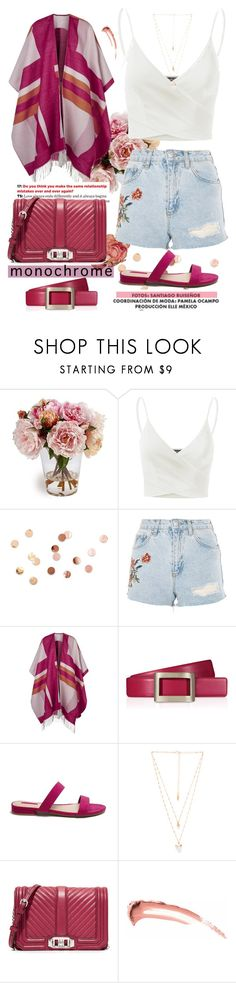 """""""summer outfit"""" by aletraghetti ❤ liked on Polyvore featuring Doublju, Umbra, Topshop, Maje, Roger Vivier, Forever 21, Natalie B, Rebecca Minkoff, Summer and summerglow"""