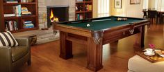 Brunswick Billiards Buckingham Billiard Table Package with Table Tennis Conversion Top Available in green Includes accessory kit Conversion top included Professional pool table installation Pool Tables For Sale, Pool Table Cloth, Pool Table Room, Dining Room, Billiard Pool Table, Billiard Lights, Billiards Pool, Professional Pool Table, American Pool Table