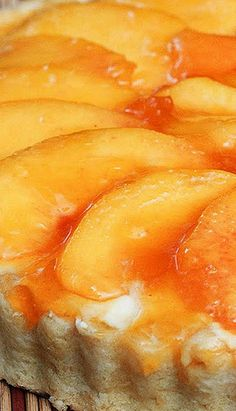 No Bake Peach Tart