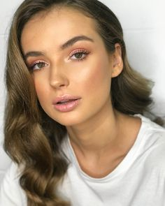 "404 Likes, 3 Comments - Samantha Ruby Artistry (@samantharuby_mua) on Instagram: ""Day 2 with @bubish_luxe and @nataliesole ✔️✨ Pinks and glam waves Using @_browcode_ Brow Gel…"""
