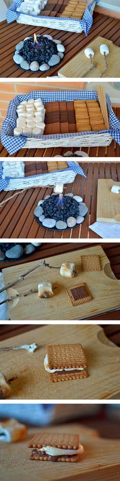 How to make s'mores at home - Cómo hacer s'mores en casa
