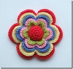Broche flor (proyecto compartido en Dehilos) | Manualidades