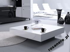Nowoczesny stolik kawowy kwadratowy 60x60 połysk Kitchen Benches, Floating Nightstand, Home Improvement, Sofa, Living Room, Interior Design, Furniture, Home Decor, Coffee Tables