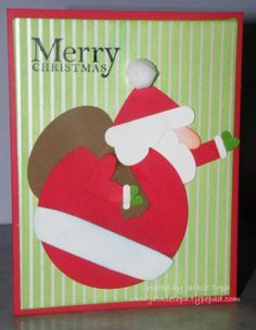 Punch Art Santa by jactop - Cards and Paper Crafts at Splitcoaststampers