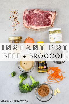 How to Make Instant Pot Beef and Broccoli by Meal Plan Addict. 8 Minute Spicy Beef and Broccoli dish is a great alternative to take out, not only because it is healthier, but it also comes together in an electric pressure cooker in less time than delivery! Get more Easy Dinner Recipes at www.mealplanaddict.com #mealplanaddict #instantpot #easydinner Broccoli Dishes, Broccoli Beef, Broccoli Recipes, Instant Pot Dinner Recipes, Easy Dinner Recipes, Great Recipes, Pressure Cooking Recipes, 30 Minute Dinners, Quick Meals