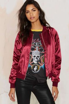 Satin Comfort Bomber Jacket - Clothes | Best Sellers | Bomber + Utility
