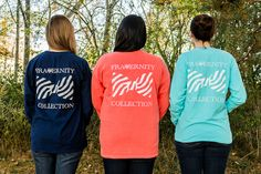 Frat Collection Sorority Monogrammed Pocket Long Sleeved T-Shirt
