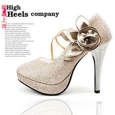 Aliexpress.com : Buy 2013 bride wedding shoes gold platform fashion elegant wedding shoes platform high heeled shoes the banquet formal dress shoes from Reliable silver shoes heels suppliers on  NO.119 Woman Store. $28.44