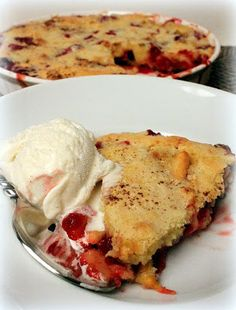 Easy Cranberry & Apple Cake (Ina Garten) - Seriously good!!!!!!!  I used raspberries instead of cranberries.