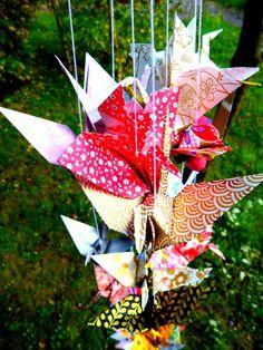 Bouquet de guirlandes de grues par Estampapier