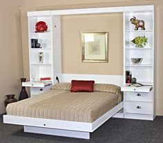 The post Bristol Birch Vertical Wall Bed w/Table by Wallbeds appeared first on Baby Room Ideas. Bedroom Closet Design, Bedroom Furniture Design, Bed Furniture, Bedroom Decor, Bedroom Sets, Bedding Sets, Furniture Stores, Gold Bedroom, Furniture Market