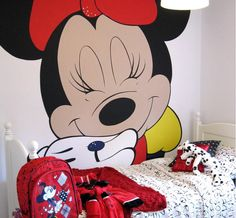 Girls Room Wall Murals Minnie Mouse Design Ideas- I soooo wanna do this for my boo! Not that big tho....