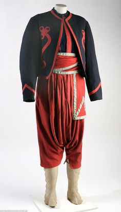 Union Zouave uniform, ca. 1861-1863. The flamboyant French-inspired Zouave uniform was once the cutting edge of military fashion. Both Union and Confederate troops wore variations of the Zouave outfit. However, the rigors of war soon proved the Zouave impractical. The pantaloons easily ripped and the fine trim on the coat was soon mangled.