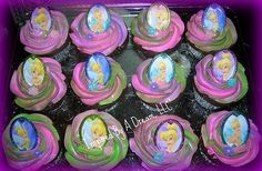 Tinkerbell Cupcakes by Inspired By A Dream, via Flickr