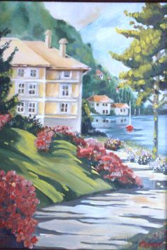 Coastal area  Oil painting by Canan Can