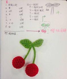 Crochet pencil-pens decoration with reusable cotton flower. Crochet Apple, Crochet Fruit, Crochet Food, Love Crochet, Crochet Motif, Crochet Crafts, Crochet Dolls, Single Crochet, Crochet Projects