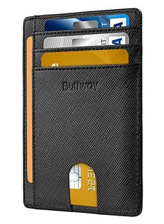 91987673081 Slim Minimalist Leather Wallets for Men   Women - Cross Black Cash Wallet