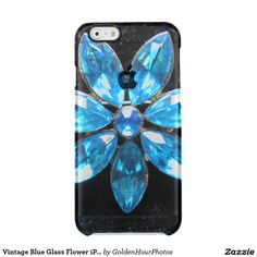 Vintage Blue Glass Flower iPhone 6/6s Case Uncommon  Clearly™ Deflector iPhone 6  Case $44.65