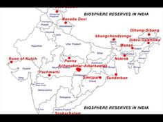 Image result for map biosphere reserves and rivers in india