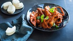 Singapore chilli crab recipe : SBS Food Tried recipe with prawns - added tamarind paste, 6 tomatoes, shrimp paste and sambal shrimp paste Crab Recipes, Asian Recipes, Ethnic Recipes, Asian Foods, Easy Recipes, Dinner Recipes, Cooking Recipes, Crab Dishes, Food Dishes