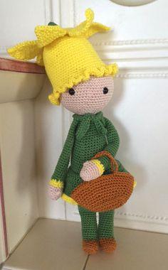 Narciso Nancy bambola fiore fatto a mano da Fabia C - Istruzioni per uncinetto by Zabbez