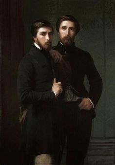 Rene-Charles Dassy and His Brother Jean-Baptiste-Claude Amede Dassy by Hippolyte Flandrin (1850).