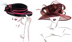 hat fashion  illustrations | HAT fashion illustration on Behance