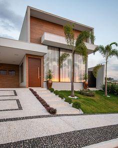 Modern Exterior House Designs, Modern Architecture House, Modern House Design, House Front Design, Small House Design, Future House, My House, Architect Design House, African House