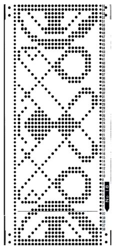 Brother 820 Knitting machine Punchcard number 18  http://www.needlesofsteel.org.uk/