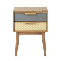 Wooden vintage bedside table ... - Fjord