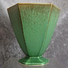 """Cowan Pottery Vase #V-898-A, """"Antique Green"""" Glaze, Circa 1929"""