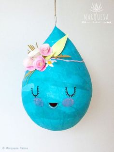 Boho Chic piñata de gota de agua por MarquesaFarmsShop en Etsy