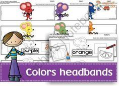 Colors headbands  from Ingles360 on TeachersNotebook.com -  (15 pages)  - Looking for an innovative, interactive way to introduce, review or practice color recognition?