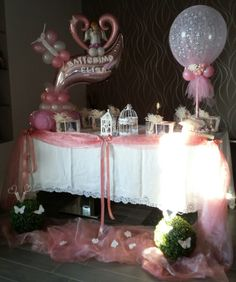 Confetti, Tulle, Cake, Creative Ideas, Party Ideas, Wedding, Arch, Pink, Decorations