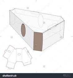 Triangular Package With Die Cut Template Stock Vector Illustration 278567117 : Shutterstock