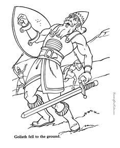 David And Goliath Childrenpfcblogs Bible Stories